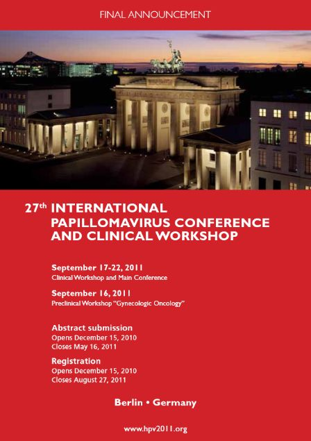 27th International Papillomavirus Conference and Clinical Workshop